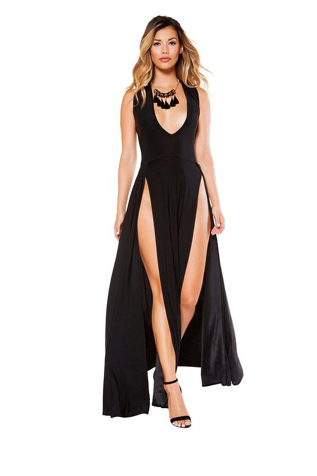 The Sensual Life Maxi Dress Black