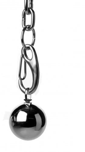 Hitch Hook Ball Stretcher With Weights Close Up