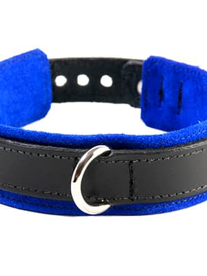 BDSM Slave Collar Blue