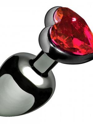 Scarlet Heart Jeweled Anal Plug