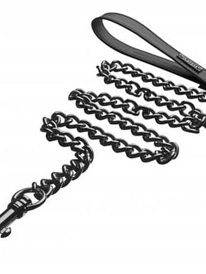 Gun Metal Chain Leash