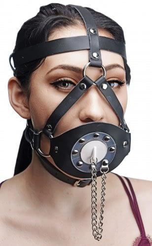 Plug Your Hole Head Harness Gag