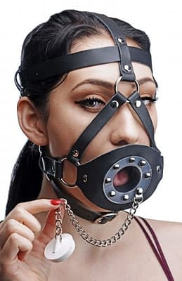 Plug Your Hole Head Harness Gag Unplugged