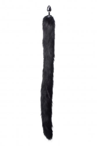 Black Mink Tail Anal Plug