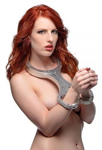 Metal Bondage Fiddle Female Model