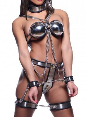 Full Body Steel Female Chastity Restraint System Front View