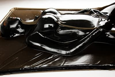 Latex Vacuum Bed Side View