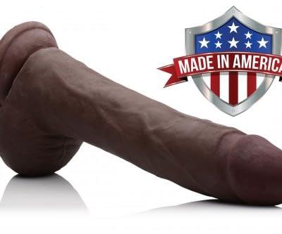 Black Realistic 10 Inch Dildo Made In America