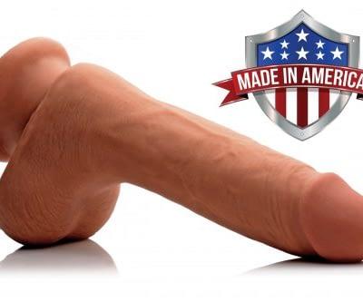 Caramel Realistic 7 Inch Dildo Made In America