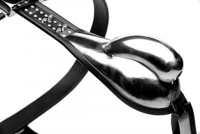 Stainless Steel Male Chastity Belt Close Up