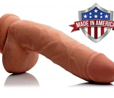 Caramel Realistic 9 Inch Dildo Made In America