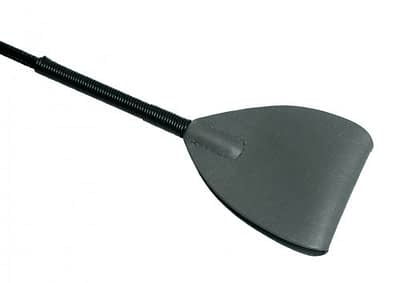 Shadow Grey Leather Riding Crop Close Up