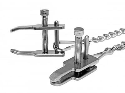 Forced Kneeling Clamps Close Up