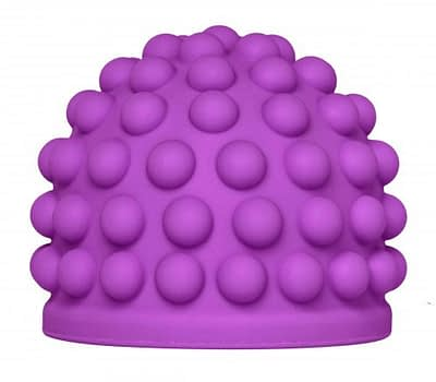 Purple Berry Bumps Wand Attachment Close Up