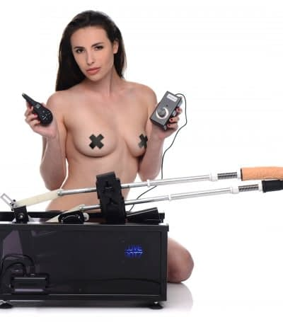 Double Penetration Sex Machine With Model