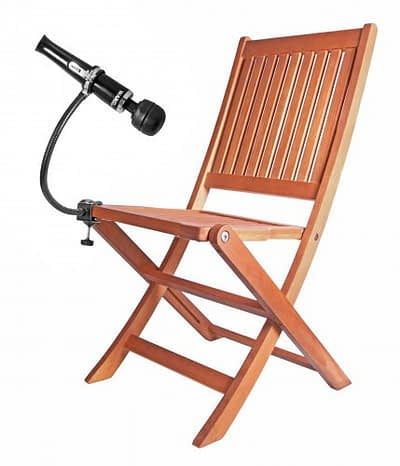 Adjustable Gooseneck Wand Holder With Chair Demo