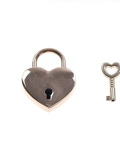 Rose Gold Heart Shaped PadLock