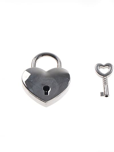 Sliver Heart Shaped PadLock