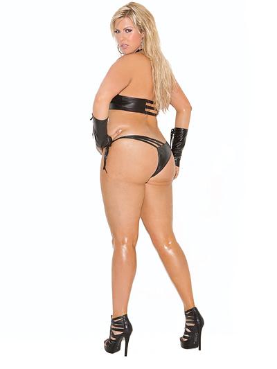 Leather Halter Cami Set X Back