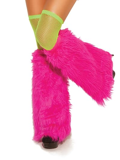 Furry Boot Covers neonpink