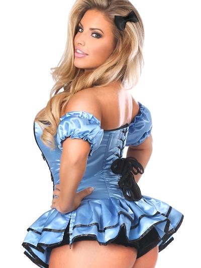 Alice Premium Corset Dress Costume Close Up Back