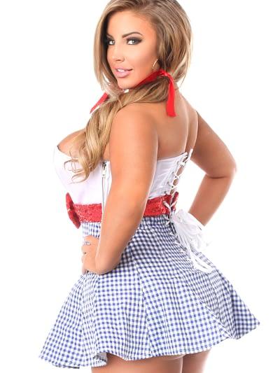 Kansas Girl Premium Corset Dress Close Up Back