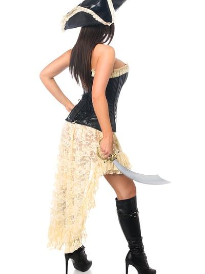 Pirate Wench Premium Corset Costume Back