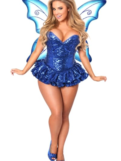 Sequin Fairy Premium Corset Costume Blue