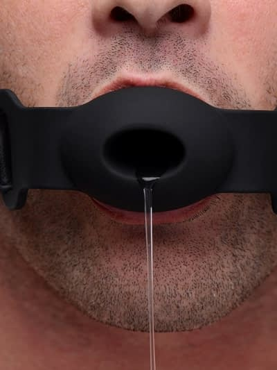 Hollow Silicone Gag Drooling