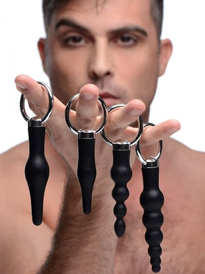 Ringed Anal Stimulation Set With Male Model