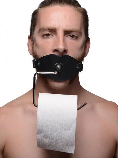 Toilet Paper Dispenser Gag With Male Model
