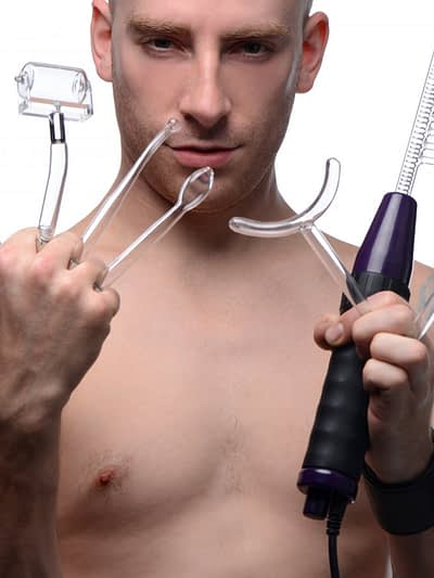 Red 7 Piece Violet Wand Accessory Kit With Male Model