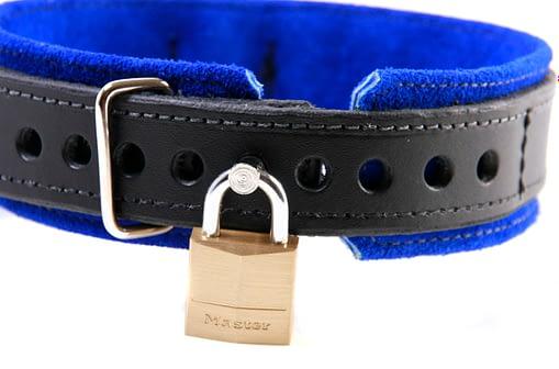 BDSM Slave Collar Locked Close Up