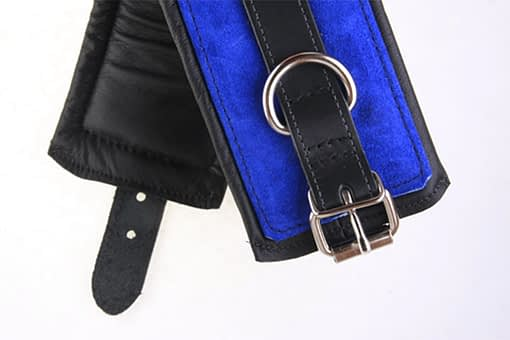 Padded Leather Bondage Cuff Double View