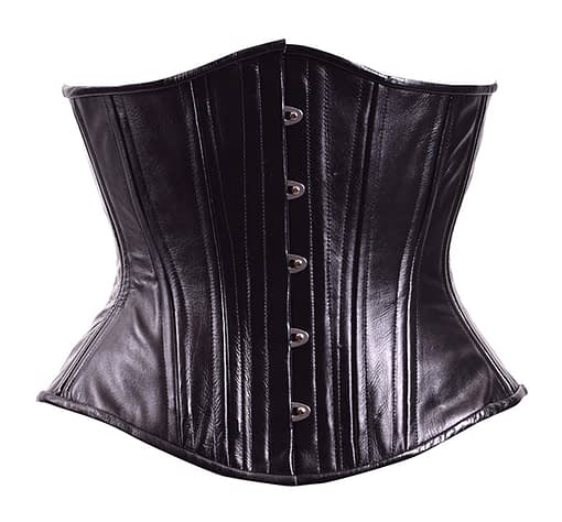 midnight leather corset