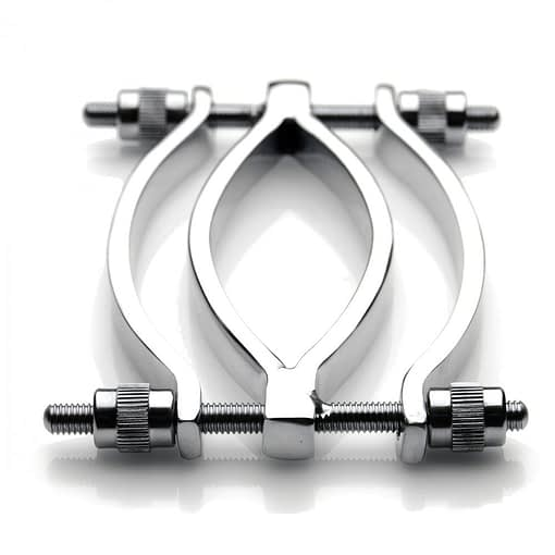 Adjustable Pussy Clamp Stainless Steel Top View