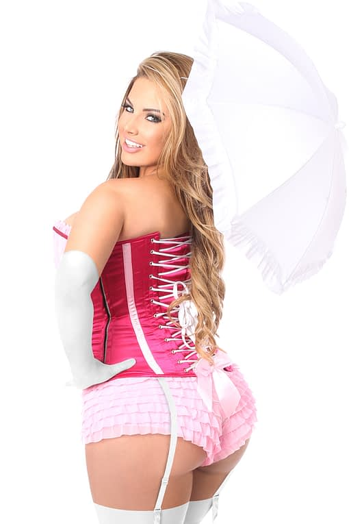 Pink Princess Premium Corset Costume Close Up Back