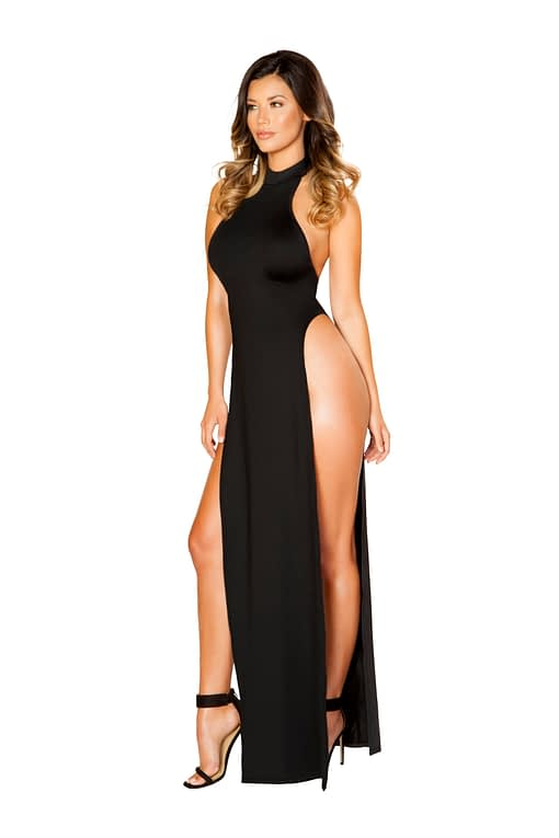 Passions Expressed Maxi Halter Dress