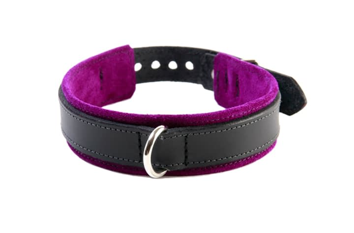 BDSM Slave Collar Purple